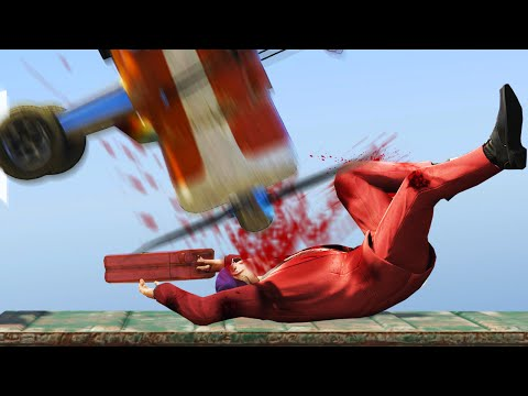 BLOODY MAN vs. PLANES! (GTA 5 Funny Moments)