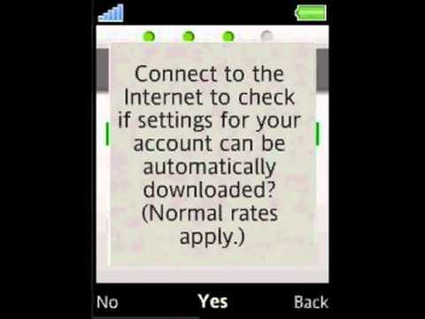 Sony Ericsson Naite, E-mail set-up