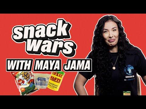 Maya Jama Tries Weird Snacks From Around The World | Snack Wars |  @LADbible TV 