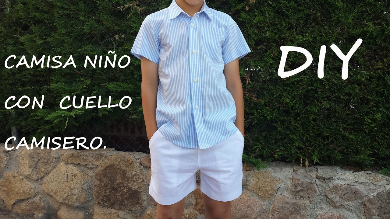 Camisa con cuello camisero. Costura y patrones para niño. - YouTube