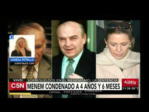 C5N - Justicia: Menem y Cavallo condenados por sobresueldos en los 90