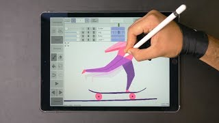 Skateboard ✍️ Animation mit dem iPad Pro