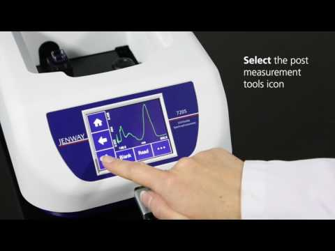 Jenway 72 Series Spectrophotometers - Performing a spectrum scan