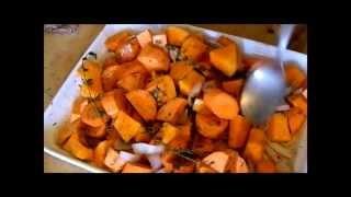 Sweet Potato Pumpkin Soup (with Coconut Milk)