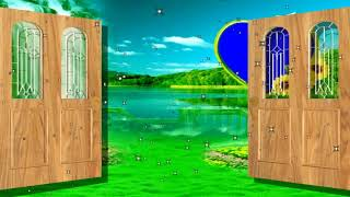 Door open and close green screen | Wedding green screen background effect