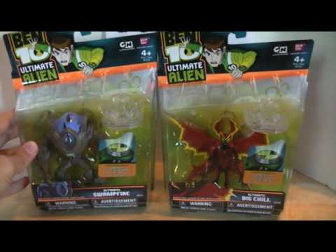 Ben 10 UA Ultimate Swampfire and Big Chill Review