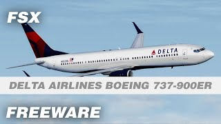 Delta Airlines Boeing 737-900ER Freeware Add-on for FSX