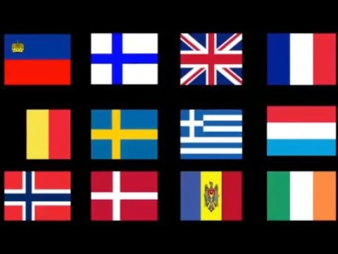 اسماء الدول الاوروبية وعواصمها واعلامها Youtube