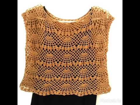 Beautifull crochet top for woman เสื้อถักโครเชต์สวยๆๆๆ
