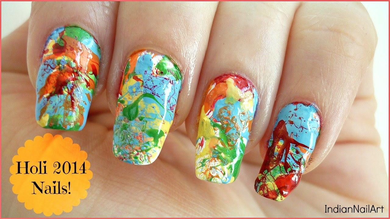 Holi Nail Art! In Hindi [with English Subtitles] - IndianNailArt ...