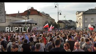 LIVE: Rally against judicial reforms in front of Warsaw