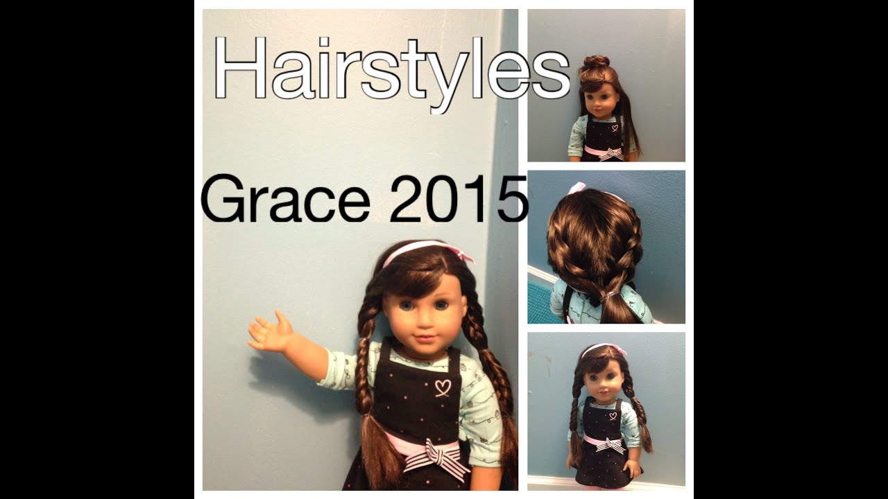 American Girl Doll Hairstyles Grace Baking Outfit YouTube - Doll hairstyles for grace
