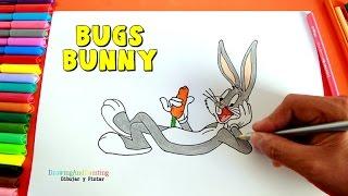 How to draw BUGS BUNNY easy!   Como dibujar al conejo Bugs Bunny (paso a paso)