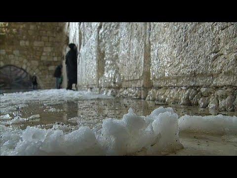 Neve em Jerusalém