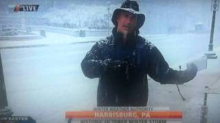 Jim Cantore Reacts To Thunder Snow