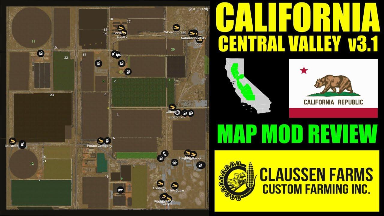 Farming Simulator Mod Review California Central Valley Map - Farming simulator 2015 us map feed cows