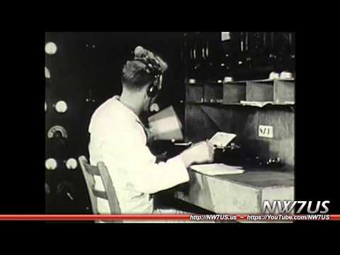 Vintage 1944 Radio Operator Training: How to Send Morse Code (CW) by Hand