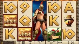 Sparta Online Slot Game -  2 Sets of Free Spins in one   MASSIVE Wins(I seriously cashed in on this game, not only were the regular payouts pretty decent, but the free spins round was worth the wait. Where else can you pull in a win ..., 2014-04-12T22:13:32.000Z)