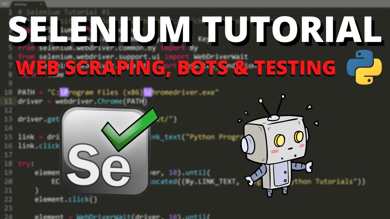 Download Python Selenium Tutorial #1 - Web Scraping, Bots & Testing