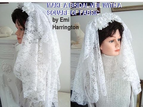 Make A Bridal Veil With Square Of Fabric