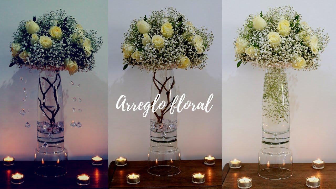Centro de mesa para bodas o xv a os 3 opciones for Mesas decoradas para 15 anos