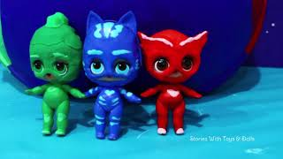 LOL Big Surprise CUSTOM Ball PJ Masks DIY ! Toys and Dolls Fun for Kids with Blind Bags | SWTAD