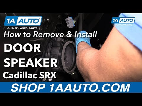 How to Remove Install Front Door Speakers 2013 Cadillac SRX
