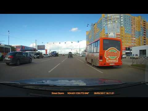Рязань. 28 мая 2017г. Проезд на запрещающий сигнал светофора.