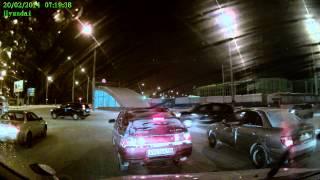 Запись с видеорегистратора HYUNDAI H DVR16HD ночью смотреть