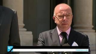 المؤتمرالصحفي للناطق الرسمي باسم الرئاسة الفرنسية ووزيري الدفاع  والداخلية