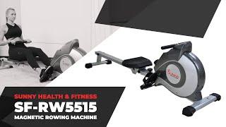 Sunny Health & Fitness SF-RW5515 Magnetic Rowing Machine
