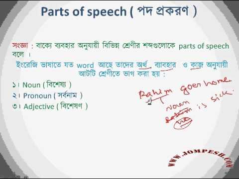 L 6:  Parts of speech ( পদ প্রকরণ )