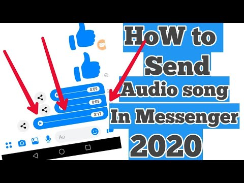How To Send Audio Song&file On Facebook Messenger 2020| Audio Song Messenger Ma Kaise Send Kare
