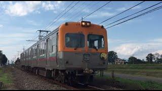 粕川⇒膳を行く上毛電鉄700型