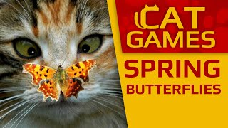 CAT GAMES - 🦋 Spring butterflies (Videos for Cats to watch) 1 Hour 4K 60FPS