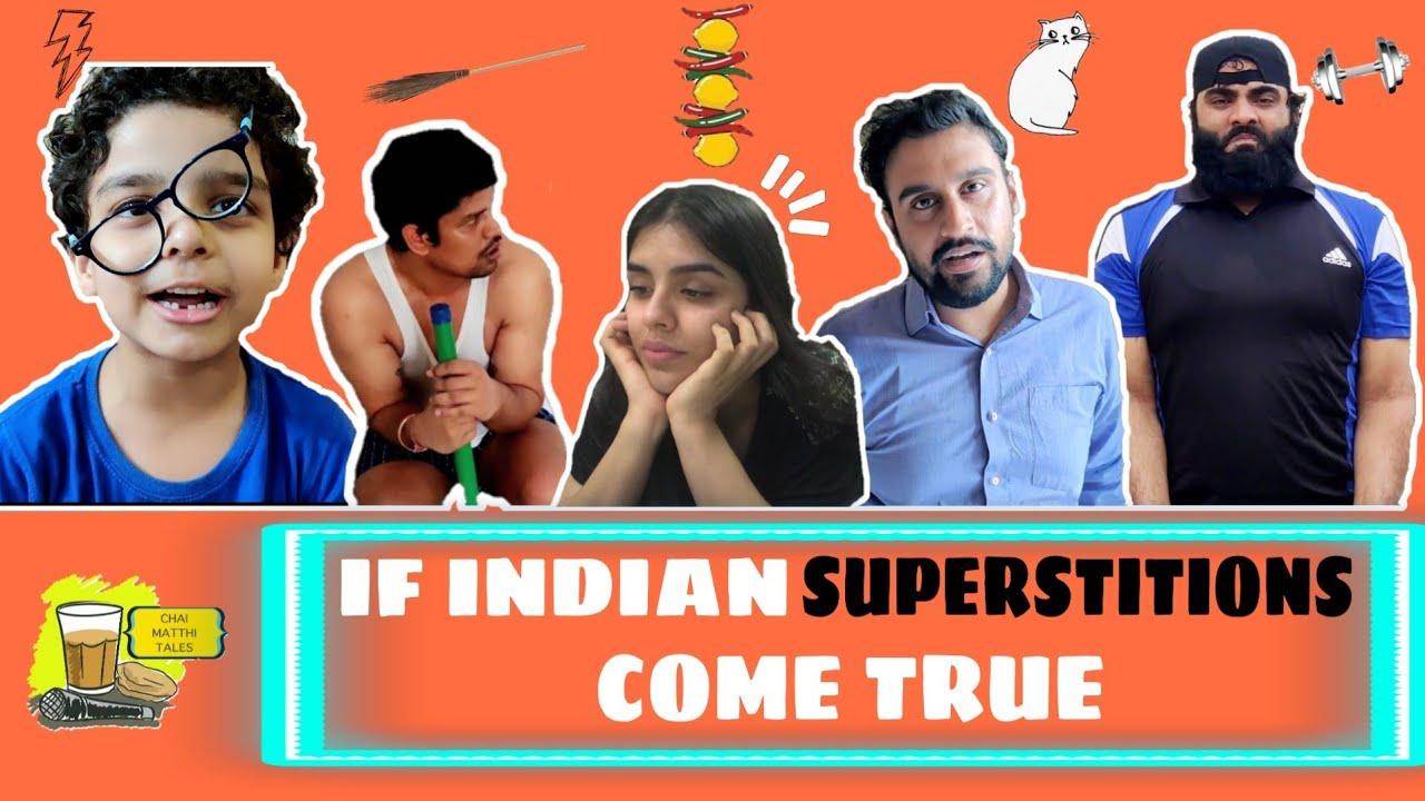 If Indian Superstitions Come True FT Inder Sahani |Gourav Mahna | Ravi Khurana| Sketch Comedy