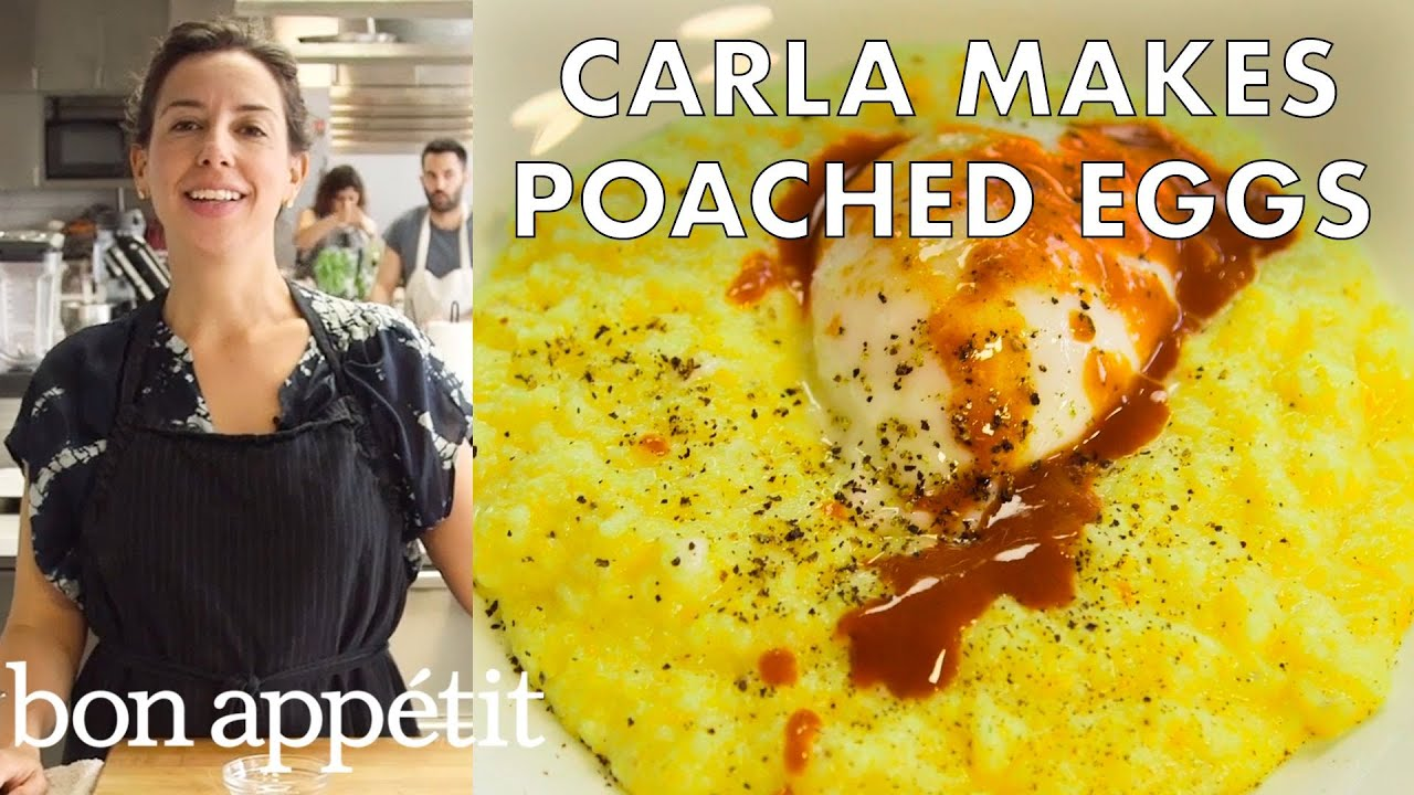 Carla Makes Poached Eggs | From the Test Kitchen | Bon Appetit