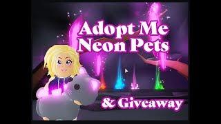 Roblox Adopt Me Neon Pet/Toy Update & Giveaway