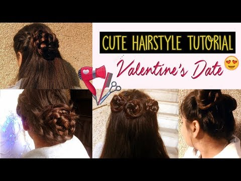 Cute Date Hairstyles – Valentine's Day  💇 (Easy & Fancy)