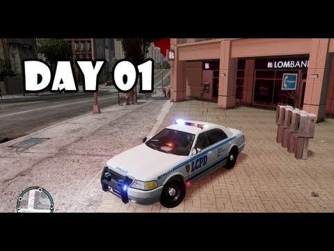 GTA IV: LCPDFR Day 01 - LCPD patrol