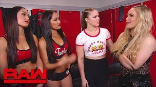 The Bella Twins have a heart-to-heart with Ronda Rousey: Raw, …