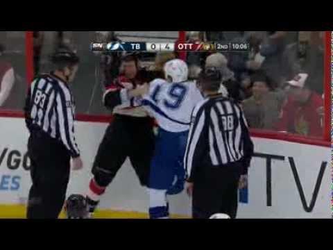 Marc Methot nice Hit on B.J. Crombeen (Tampa Bay Lightning vs Ottawa Senators Mars 23, 2013) NHL HD