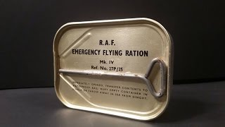 1950-60s British Royal Air Force Emergency Flying Ration MK4 Pilots Survival Candy MRE Taste Test