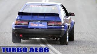 3SGTE turbo AE86 circuit car takes on Mallala!