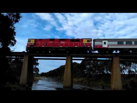 Trains along the Warrnambool line [7,500 channel views special]