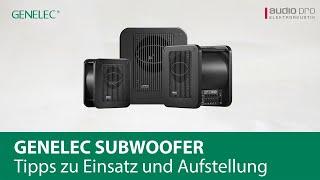 Genelec Subwoofer – Tipps zu Einsatz und Aufstellung