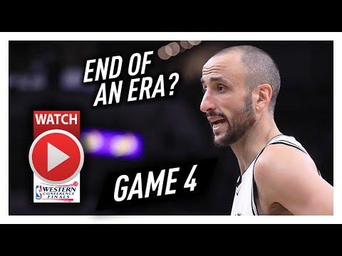 Manu Ginobili Full Coverage Game 4 Highlights vs Warriors 2017 Playoffs WCF - 15 Pts, FINAL GAME?