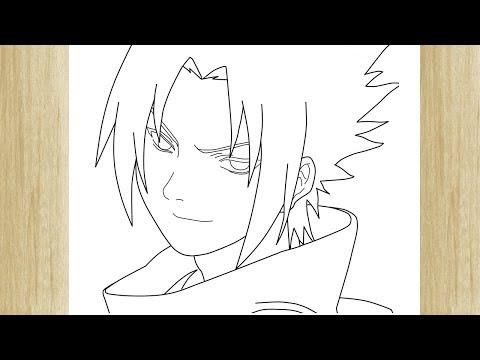 How To Draw Sasuke Uchiha From Naruto Como Desenhar O Sasuke