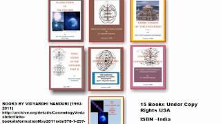 The Science of Cosmology Vedas-Unity in Diversity-By Vidyardhi Nanduri.