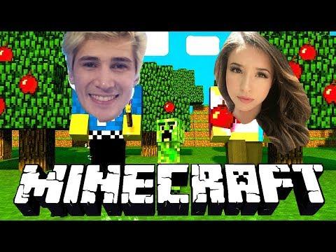 Pokimane Plays Minecraft With XQCOW!!!